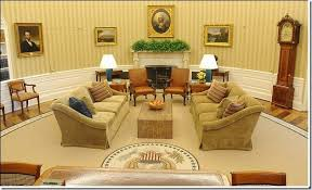 oval office white house. Wonderful Office The Newly Designed White House Oval Office Was Announced This Tuesday  Biggest Decorative Changes Are The Addition Of Gold Striped Wallpaper And  Inside