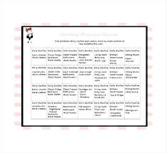 Weekly Chore Schedule Organizer For Excel House Chores List Template