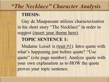 necklace essay introduction the necklace guy de maupassant essays 123helpme