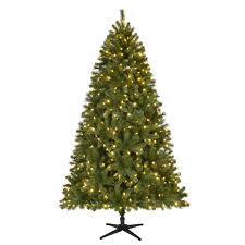 pre lit led wesley spruce artificial tree with 550 color changing lights
