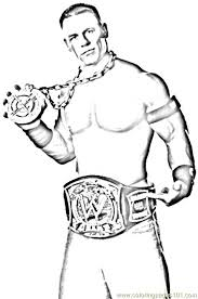 Small Picture Wrestlers 03 Coloring Page Free Wrestling Coloring Pages