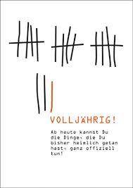 18 Geburtstag Karte Lustig Design