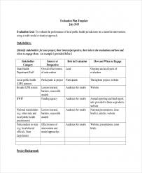 Free Evaluation Templates Free Download Sample 8 Project Evaluation Templates Free Sample