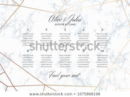 Wedding Seat Chart Poster Wedding Seating Chart Poster Template Geometric Stock Vector