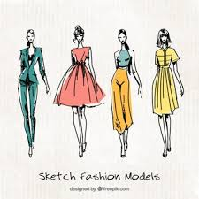 Sketching Clothing Fashion Sketch Vectors Photos And Psd Files Free Download