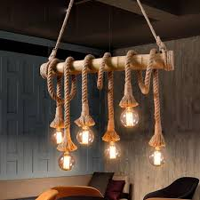 vintage rope pendant lights lamp personality loft lights rope bamboo lamp for kitchen cafe bar decor ceiling pendant light fixtures pendant lighting modern