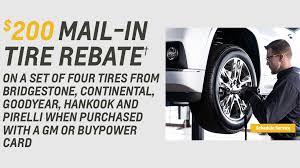 200 mail in tire rebate