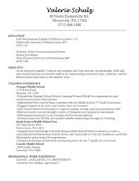 Teacher Resume Objective Awesome Teachers Resume Objectives 60 Player