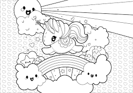 6 Cute Cartoon Unicorn Coloring Pages Coloring Book Page Cute
