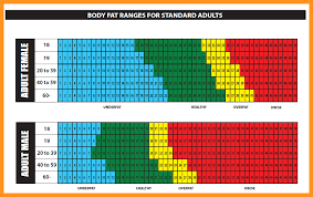 Printable Body Fat Percentage Chart Bio Letter Format