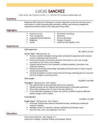 Super Resume Gorgeous Shift Supervisor Resume Bighitszone