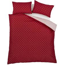 red polka dot duvet cover
