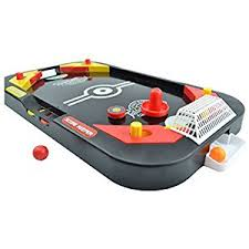 table ice hockey. yuyugo desktop 2 in 1 soccer and knock hockey table top game - classic arcade games tabletop ball ice shooting fun toys for kids boys girls