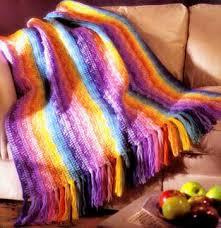 rainbow afghan crochet