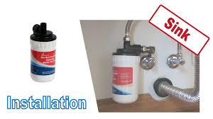 installing cf 12ch hot water filter under sink washstand kitchen counter aquaclio water system you