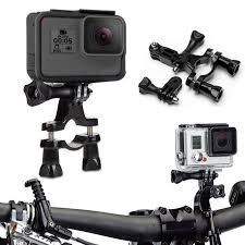 Action Camera Bike Handle Bar Bracket Cycling Camera Stabilizer