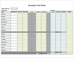 Sample Biweekly Timesheet Cool Employee Timecard Template Bi Weekly A Timesheet Numbers Spitznas