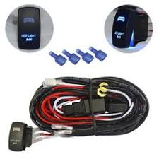 mictuning 2 lead heavy duty 40a relay 30a fuse wiring harness on mictuning led light bar wiring harness 30 amp fuse on off laser rocker switch blue
