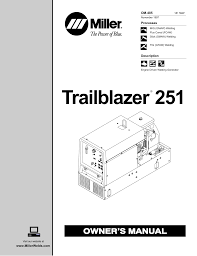 miller trailblazer 251 owner`s manual