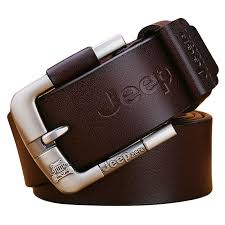 home men genuine leather alloy pin buckle belt