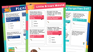 Kindergarten level 1 phonics worksheets. Year 1 Phase 5 Phonics Reading Comprehension Worksheets Bundle 4 Plazoom