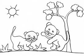 Disegno Di Leoncini Che Giocano Cose Per Crescere