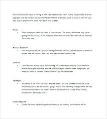 simple one page business plan template one page business plan template word pager project