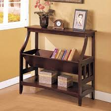 console sofa table with storage. Modren Sofa Contemporary Wood Magazine Table Book Storage Console Sofa Stand Rack  In Walnut Throughout With F