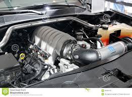 Dodge Challenger 6.4L HEMI Engine Editorial Image - Image of dodge ...