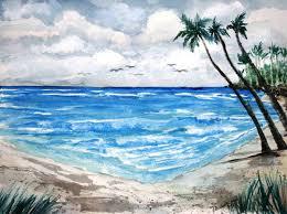 beach painting paradise