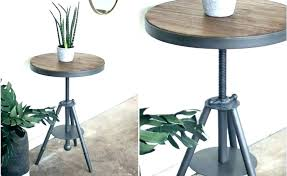 round wood accent table metal beautiful with and side rustic 2 drawer oval tab