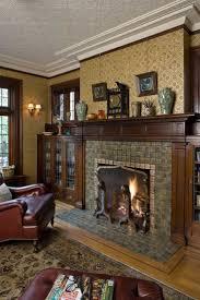 craftsman living room furniture. Moravian Tiles And Pugin-designed Wallpaper In A 1908 Tudor. Photo: WIlliam Wright Craftsman Living Room Furniture O