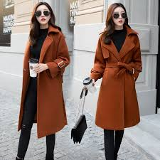 New Women's Woolen Coat <b>Winter Thick woolen coat</b> | Shopee ...