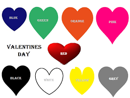 Orange Blue Green Valentines Day Dress Code Meaning Feb 14th Dress Colours Red Blue