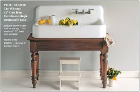 small farmhouse sink 42 cast iron new from strom plumbing