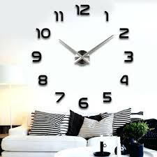 frameless 3d large quartz wall clock the north gifts frameless 3d large quartz wall clock diy