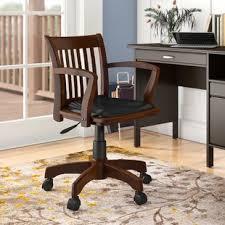 Office wooden chair Black Quickview Birch Lane Desk Chairs Birch Lane