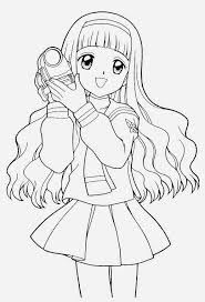 Small Picture Anime girl coloring pages holding camera ColoringStar