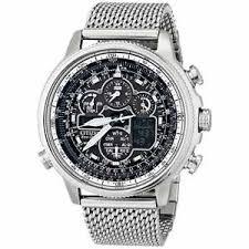 new citizen eco drive navihawk a t mesh bracelet men 039 s watch image is loading new citizen eco drive navihawk a t mesh bracelet