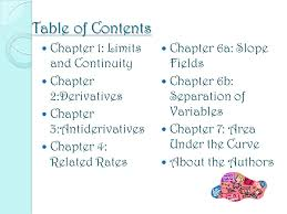 the secrets behind calculus the first book to bring you tips and  2 table of contents chapter 1 limits and continuity chapter 2 derivatives chapter 3 antiderivatives chapter 4 related rates chapter 6a slope fields