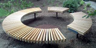 Full Image for Circular Benches 8 Simplistic Furnishing On Circular Benches  Fire Pit ...