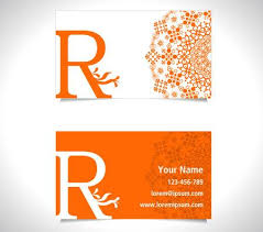 Name Card Cool Business Card With Alphabet Letter R Creative R Letter Icon Royalty