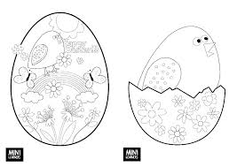 Printable Coloring Pages Free For Girls Easter Bunny Craft Activity