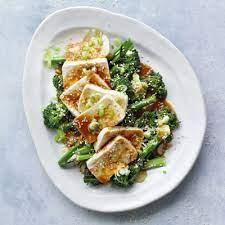 silken tofu with broccoli soy miso