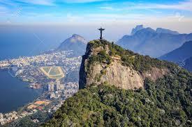 Immagini Stock - Vista Aerea Del Cristo Redentore E La Città Di Rio De  Janeiro, Brasile Image 47981666.