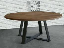 x base round dining table x base round dining table in reclaimed wood and steel legs