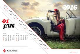 Small Picture Wall Calendar Design 2016 by olaylay GraphicRiver
