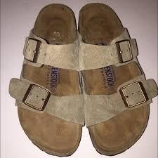 birkenstock size 36 birkenstock shoes new taupe suede arizona sandal 536 poshmark