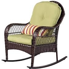 wicker rocking chair. Sundale Outdoor Wicker Rocking Chair Rattan Patio Yard Furniture All Weather With Cushions In
