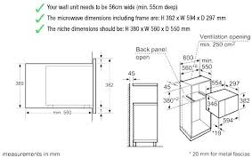 standard microwave size. Microwave Sizes Standard Size Wall Oven Built In Technical Drawings I